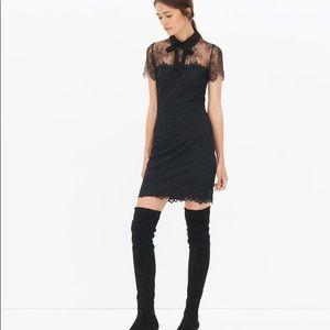 Sandro Rozen black lace dress